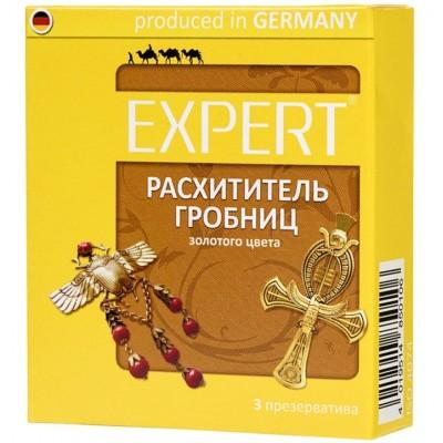 Презервативы Expert ''Расхититель гробниц'' №3 золотые
