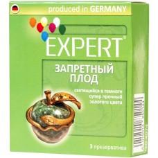 Презервативы Expert ''Запретный плод'' светящийся в темноте, золотого цвета, супер прочный