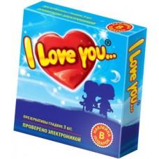 "Презервативы гладкие ""I Love You"", 3 шт"