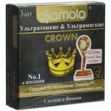 Презервативы Окамото Crown №3 Ультратонкие и ультрамягкие