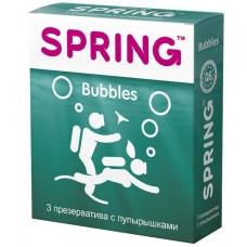 Презервативы Spring Bubbles с точечной поверхностью №3