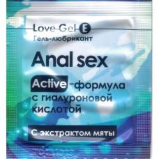 Гель-любрикант ANAL SEX с гиалуроновой кислотой и экстрактом мяты 4г