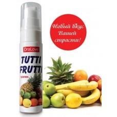 Съедобная гель-смазка TUTTI-FRUTTI для орального секса со вкусом экзотических фруктов 30 мл