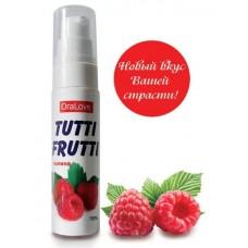 Съедобная гель-смазка TUTTI-FRUTTI для орального секса со вкусом малины 30 мл