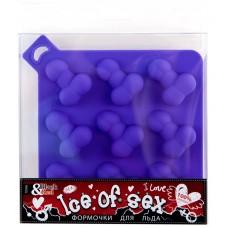 Сувенир Форма для льда TOYFA Black & Red, силикон, фиолетовая